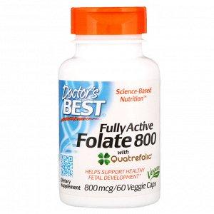 Doctor&#x27 - s Best, Активный фолат 800, 800 мкг, 60 капсул в растительной оболочке