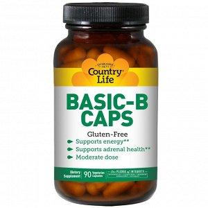 Country Life, Basic-B в капсулах, 90 вегетарианских капсул