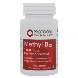 Protocol for Life Balance, Methyl B12, 1,000 mcg, 100 Lozenges