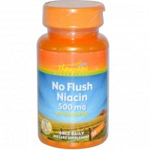 Thompson, No Flush Niacin, 500 mg, 30 Vegetarian Capsules
