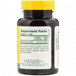 Nature&#x27 - s Plus, Ниацинамид, 500 мг, 90 таблеток