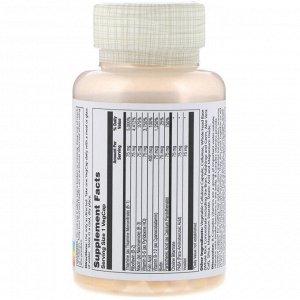 Solaray, Комплекс с витаминами группы B - B-Complex 75, два этапа, замедленное высвобождение, 100 вегкапсул