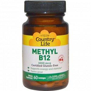 Country Life, Methyl B12, Cherry, 1,000 mcg, 60 Lozenges