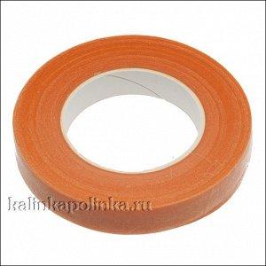 Флористическая лента (тейп лента), Флористическая лента (тейп лента), ширина 12мм, цвет оранжевый.