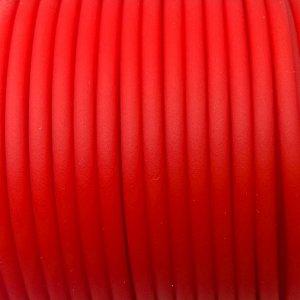 Шнур каучуковый полый матовый средней твёрдости, красный, диам. 3мм, отв. 1,5мм.