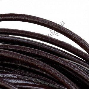 Шнур кожаный, круглый, цвет черный, диам. 4 мм.