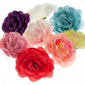 Цветы из ткани крупные, цвет микс, р-р цветка около 6.5 см.