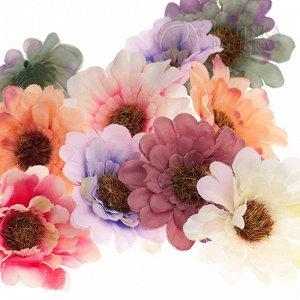 Цветы из ткани герберы, цвет винтажный микс, р-р цветка около 6 см.