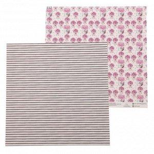 Бумага для скрапбукинга На_шпильках Коробочки с цветами, 30,5 х 30,5 см