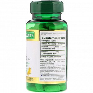 Nature&#x27 - s Bounty, Vitamin C with Rose Hips, 1,000 mg, 100 Coated Caplets