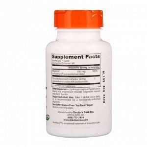 Doctor&#x27 - s Best, Витамин С замедленного высвобождения с PureWay-C, 500 мг, 60 таблеток