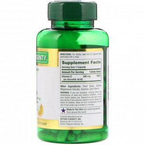 Nature&#x27 - s Bounty, Time Released Vitamin C, 500 mg, 100 Capsules