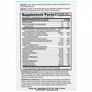 Ener-C, Витамин C, шипучий растворимый порошок для напитка со вкусом ананаса и кокоса, 30 пакетиков, 9,7 унции (274,8 г)