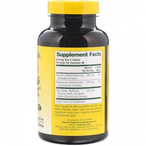Nature&#x27 - s Plus, Source of Life, Cal/Mag, Mineral Supplement w/ Whole Foods, 180 Tablets