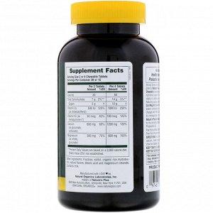 Nature&#x27 - s Plus, Кальций / Магний / Вит D3, со вкусом ванили, 60 жевательных таблеток