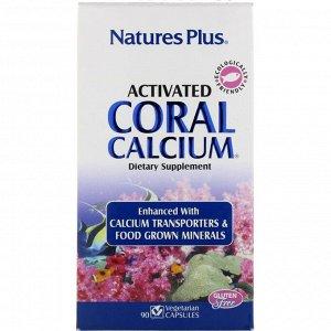Nature&#x27 - s Plus, Активированный Коралловый Кальций, 90 Капсул