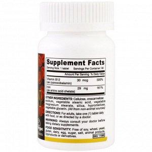 Deva, веганское хелатное железо, 29 мг, 90 таблеток