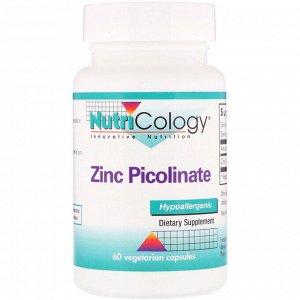Nutricology, Пиколинат цинка, 60 вегетарианских капсул