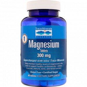Trace Minerals Research, Магний, 300 мг, 60 таблеток