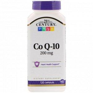 21st Century, Коэнзим Q10, 200 мг, 120 капсул