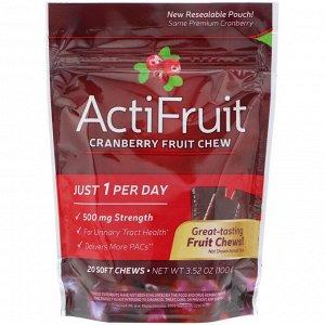 Nature&#x27 - s Way, ActiFruit, Cranberry Fruit Chew, 20 Soft Chews