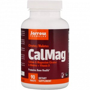 Jarrow Formulas, CalMag, Citrates/Malates, 90 Tablets
