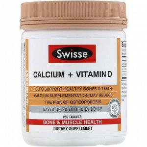 Swisse, Ultiboost, кальций + витамин D, 250 таблеток