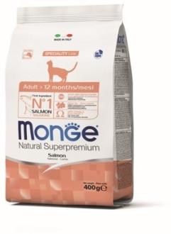 Monge Cat корм для взрослых кошек с лососем 400г