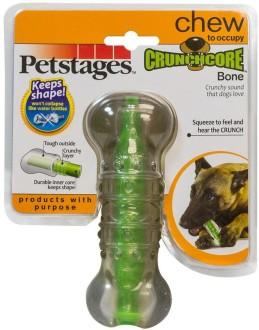 """Petstages игрушка для собак """"Хрустящая косточка"""" резиновая 12 см средняя"""