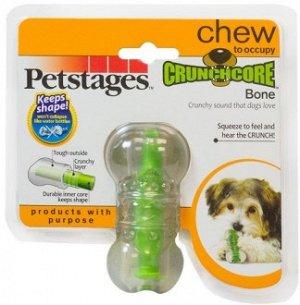 """Petstages игрушка для собак """"Хрустящая косточка"""" резиновая 8 см очень маленькая"""