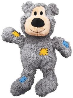 """KONG игрушка для мелких собак WildKnots """"Мишка"""" плюш с канатом внутри 10 см, в ассортименте"""