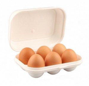 Контейнер для яиц с декором 172*130*75 ,1/20 белый