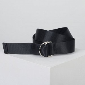 Ремень женский, ширина - 3,5 см, пряжка металл, цвет чёрный