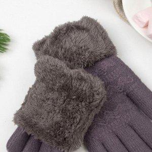 Перчатки женские термо, цвет серый, размер 18-20