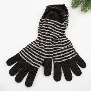 Перчатки женские арт 209 цвет черный , р-р 18