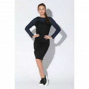 Платье женское KAFTAN, р-р 40-42, индиго/чёрный