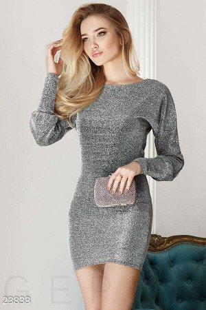 Облегающее платье с люрексом