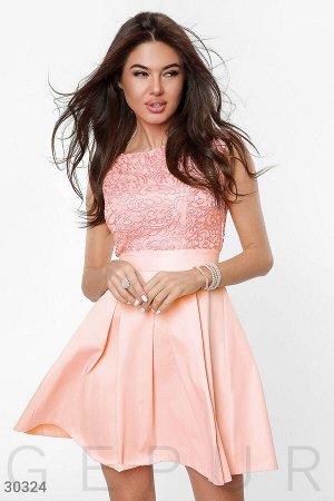 Короткое пышное платье