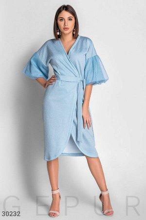 Эффектное платье-халат