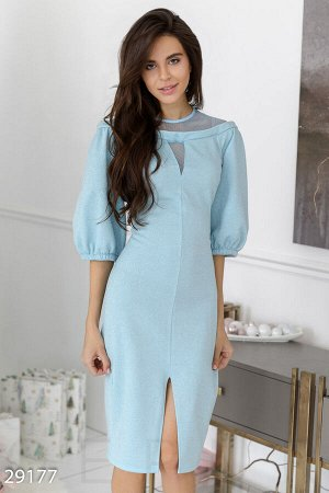 Блестящее платье-миди