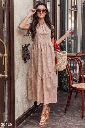 Платье в гороховый принт