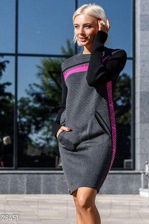 Теплое платье-свитер