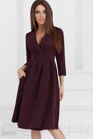 Деловое платье на запх