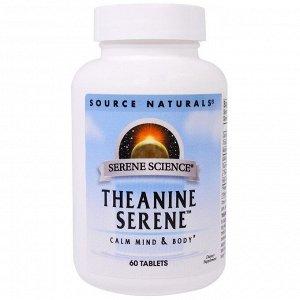 Source Naturals, Theanine Serene, 60 таблеток