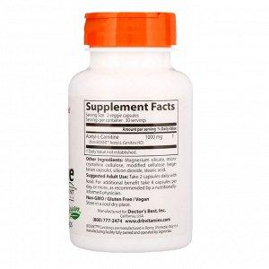 Doctor&#x27 - s Best, Ацетил-L-карнитин с карнитинами Biosint, 500 мг, 60 растительных капсул