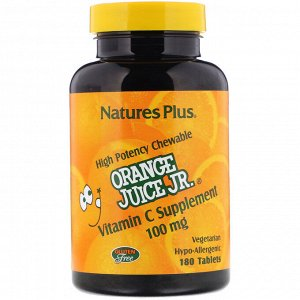 Nature&#x27 - s Plus, Витамин С из апельсинового сока, 100 мг, 180 таблеток