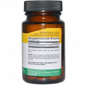 Country Life, Витамин B12, 1000 мкг, 60 таблеток