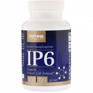 Jarrow Formulas, IP6, гексафосфат инозитола, 500 мг, 120 растительных капсул