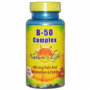 Nature&#x27 - s Life, Комплекс B-50, 100 таблеток