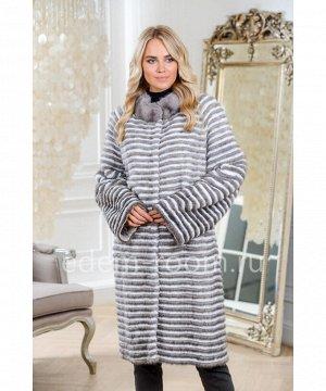 Тёплое пальто из меха норкиАртикул: 17014-110-SR-BL